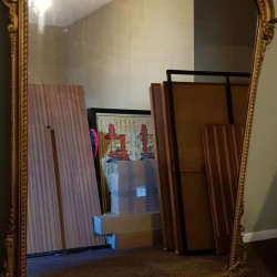 Large Antique Mantle Or Wall Mirror Possibly French