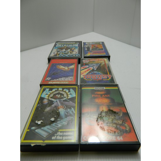 Selection of cassette video games and controllers