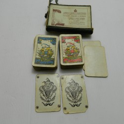 Selection of Bridge cards and dominoes and other
