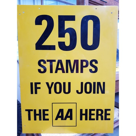 AA 250 Stamps sign