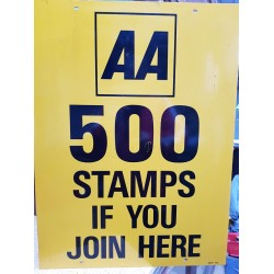 AA 500 Stamps sign