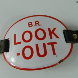 B.R. British Rail Look Out Armband with leather strap